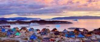 Гренландия, города и достопримечательности, виза, карты, погода и фото
